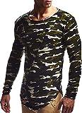 LEIF NELSON Herren Oversize Longsleeve Pullover Hoodie Sweatshirt Basic Rundhals Langarm Shirt Hoody Sweater Vintage