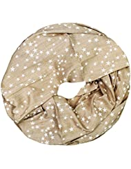 Mevina Schlauchschal mit Stern Stars Print Baumwolle viele Farben Viskose Top Qualität Sterne Druck