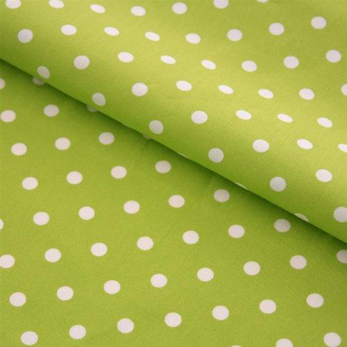65d2a49f080ff Grün Weiß Gepunktet und weitere Muster - Stoffe online auf Stoff123.de