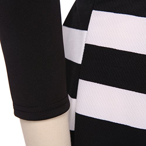ZEARO Damen Kleid mit Verband Bodycon langarm Abendkleid Party-Cocktail-Minikleid Minidress Schwarz