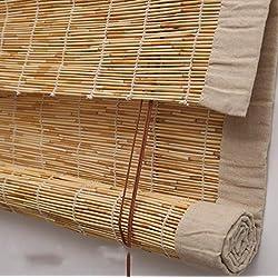 MYYDD Cortina de bambú de persianas enrollables de persianas venecianas - Reed Lifting Rolling Blind 4 Colores de Alto Grado - Múltiples tamaños,C,50x100cm