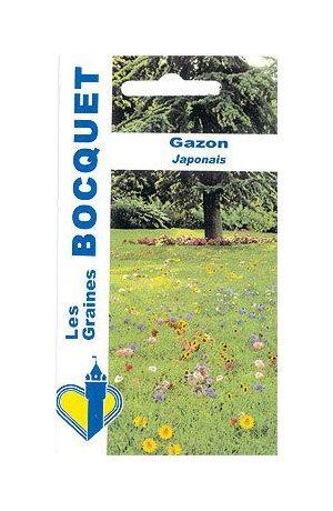 Les Graines Bocquet - Graines De Fleurs Pour Gazon Japonais - Graines Potagères À Semer - Sachet De 4Grammes
