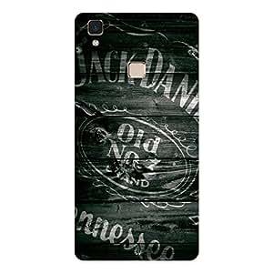 GripIt Jack Daniels Logo on Wood Case for Vivo V3 Max