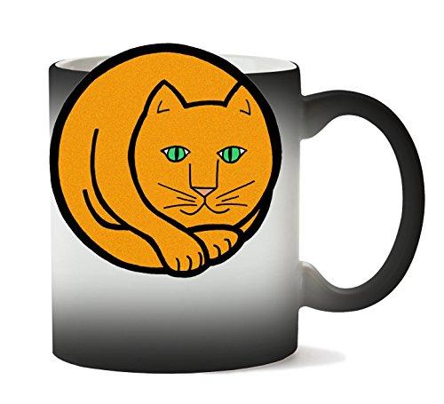 MugWorld Orange Circle Cat Tasse Chaleur Changement De Couleur
