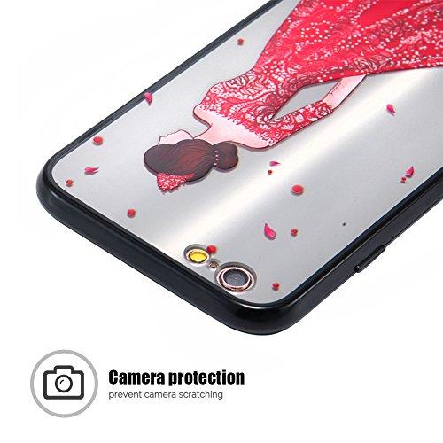 Cover iPhone 6 (4.7 pollici) Case iPhone 6S Custodia Spiritsun Moda Ultraslim TPU Case Elegante Carina Souple Flessibile Morbido Silicone Copertura Perfetta Protezione Shell Paraurti Custodia Per iPho Abito da Ricamo