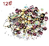 LCLrute Mode Nail Art Strass Glitter Diamanten Tipps Mixed 3D Tipps DIY Dekoration (L)