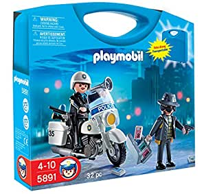 playmobil 5891 jeu de construction valisette policier et voleur jeux et jouets. Black Bedroom Furniture Sets. Home Design Ideas