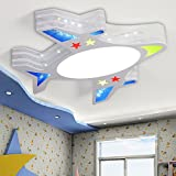 Deckenleuchte Cartoon Plane Licht Kind-Lampe Deckenleuchte junges Mädchen Schlafzimmer Raumgröße 55 x 54 cm 26 W drei Farben dimmbare LED [Energieklasse A +++]