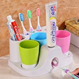 Zahnbürste halter und absaugung tasse zahnbürste rack wand wand montierten zahnbürstenhalter zähneputzen tasse pinsel tasse set automatische zahnpastaspender-B