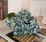 ZZJJWW Nozze 5 testa ortensia fiore emulazione grande ortensia casa decorazione decorazione matrimonio falso bouquet, blu 5 testa francese