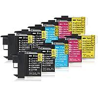 10 Cartucce Per Stampanti compatibile con Brother LC-1100 (4x Nero, 2x Ciano, 2x Magenta, 2x Giallo)