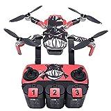 CUEYU Drone Autocollants Skin - Corps de Drone, télécommande et étiquette de la Batterie Autocollants Imperméable Décalques Anti-Rayures Peau protectrice,pour DJI Mavic Mini Drone RC (C)