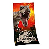 Jurassic World Badetuch Sauna Handtuch VELOURSTUCH 75 x 150 cm Geschenk Wow - All-In-One-Outlet-24 -