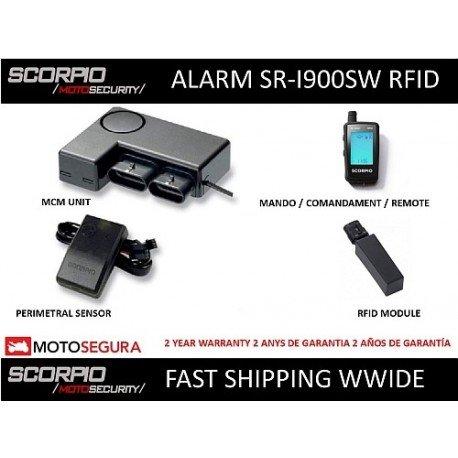 Alarma Scorpio SR-i900 - 2 vias RFID + SENSOR PERIMETRAL