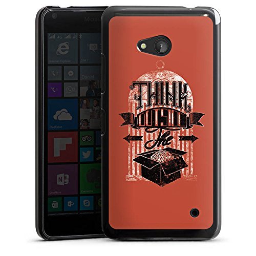Microsoft Lumia 640 (black version only) Hülle Schutz Hard Case Cover Gedanken Selbstständig Statement (Box Berufliche Black)