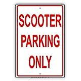 Scooter Parking Only vorbehalten Alert Vorsicht Achtung Hinweis Aluminium Metall blechschild Teller 8