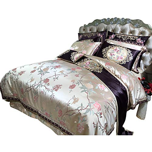 JYTT Klassische bettwäsche Set, King Size Tröster Bett in Einem Beutel 10 stück Bettzeug Ultra Soft Mikrofaser Schlafzimmer Bettdecken-A Queen1 - In Aus Mikrofaser Beutel King-size-bett Einem