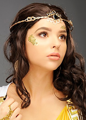 Womens Kostüm Goldene Göttin - Magic Box Int. Womens Deluxe Griechische Göttin Gold Kopfschmuck