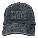 Cappelli da Baseball Casuali da Uomo multicolor42 di Wrestling Mom 3 Regolabili del Cappello del Denim