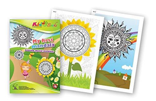 quac kduck libro para colorear My First Mandala–Mi primer Mandala–Coloring Special Mandalas–mágicas especial con bemaltem Fondo–Bloc a partir de 6años–con fondos de color