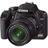 Canon EOS 1000D SLR-Digitalkamera (10 Megapixel, Live-View) Kit inkl. EF-S 18-55mm IS