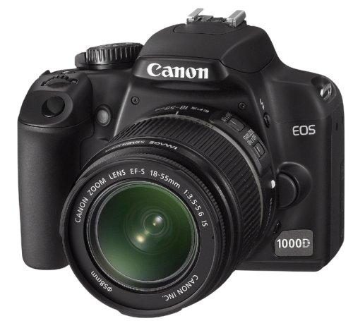 Canon EOS 1000D SLR-Digitalkamera (10 MP, Live-View, Kit inkl. EF-S 18-55mm IS) 10,1 Mp Cmos-sensor