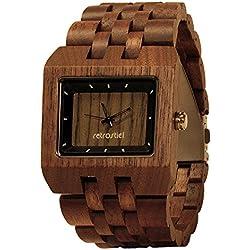 Holz Armbanduhr Square Nut