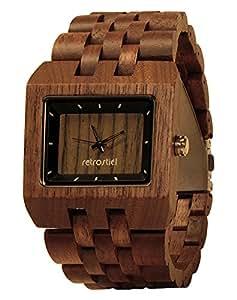 Orologio da polso di legno square nut orologi for Orologio legno amazon