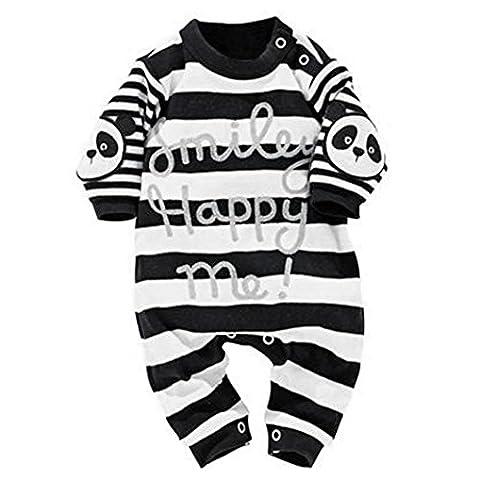 Combinaison Barboteuse Bébé , Amlaiworld Enfant Lapin Garçons Filles Vêtements costumes Combinaison de Romper (90/12-18mois, Noir)