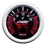 Simoni Racing VM/A Voltmetro Elettrico, Sfondo Nero