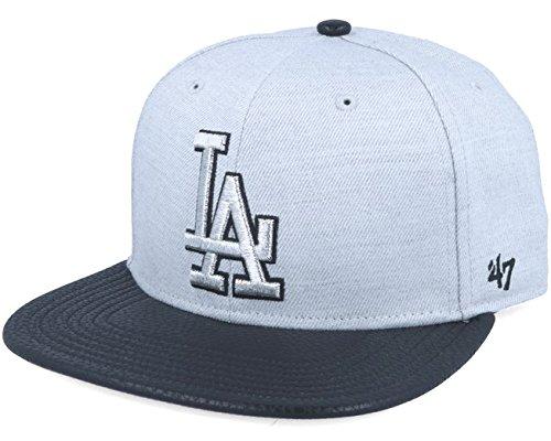 Gorra plana gris snapback lisa con logo lateral de MLB Los Angeles Dodgers de 47 Brand - Gris, Talla única