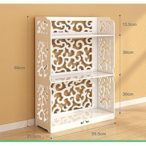 Estantes de baño/Cuarto de baño estante de esquina/ estante triangular de piso/Aseo baño tres o cuatro lavado almacenamiento rack-H
