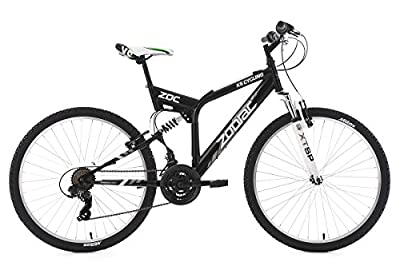 KS Cycling Mountainbike Fully Zodiac RH 48 cm Fahrrad, Schwarz, 26 Zoll