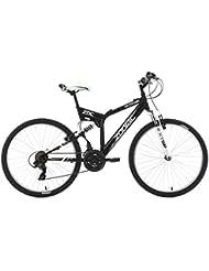 KS Cycling Uni Mountainbike Fully Zodiac RH 48 cm Fahrrad, Schwarz, 26 Zoll