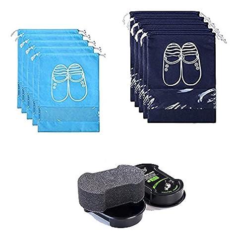Haushalt Reise Staubdicht Schuh Veranstalter Taschen Tragbare Schuhe Polierer Set (Set) (Kleidung Closet Organisation)