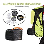 Buycitky Camping Cookware Kit,Camping Accessories Cooking,Lightweight & Nonstick Camping Kettle,Camping Pots,Camping Pans with Mesh Set Bag for Outdoor Activities,Picnic,Hiking,10-Piece Set 12