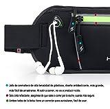 Gürteltasche, Bauchtasche, Hüfttasche 2- Pocket-Kapazität zum Sport und der Reise entwickelt, unisex schwarz -