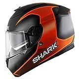 Shark Speed-R 2 Starq Mat Motorradhelm, Farbe schwarz-orange-anthrazit, Größe M (57/58)
