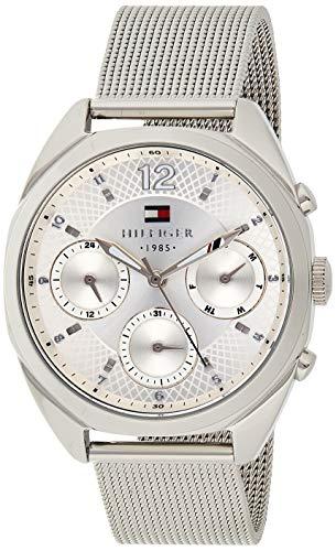 Tommy Hilfiger Damen Analog Quarz Uhr mit Edelstahl Armband 1781628