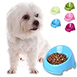 Pet Dog Slow Feed Dog Bowl, Fun Oblique Puppy Feeder Slow Feed And Drink Water Bowl For Dogs