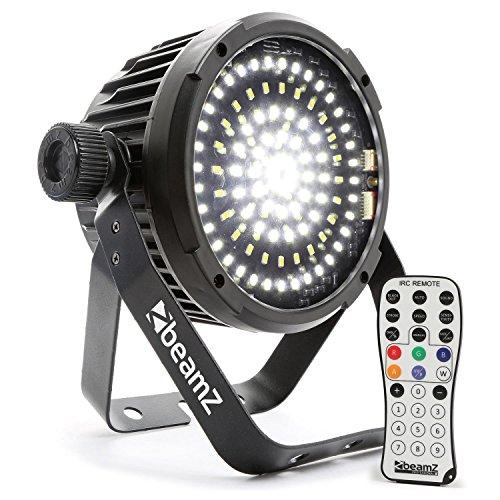 Beamz BS98Spot LED Stroboskop (98x SMD LEDs, DMX-Modus und Auto, kompakt, Infrarot Fernbedienung, programmierbar, mit Master-Slave)