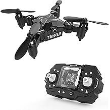 TENKER SKYRACER - Faltbare Mini Drohne mit Modus zum Beibehalt der Höhe & Kopflosmodus Taste zum Starten / Landen, Zurückkehrfunktion 3D Flips & Rollen Schweben stabiler Quadcopter 901H Blau