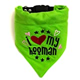 #1: That Dog in Tuxedo I Love My Hooman Dog Bandana/Dog Scarf with Adjustable Dog Collar (M-L)