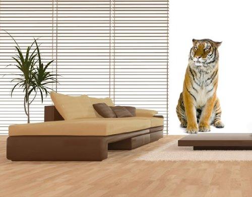 Bunt Tiger Nr.161 Wandaufkleber Wandmotiv (Größe: 88cm x 46cm)