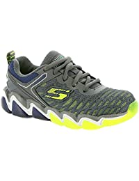 Skechers Skech Air 3. 0-97414WL Boys' Toddler-Youth Sneaker 13 W US Little Kid Charcoal-Lime-Navy
