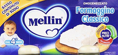 Mellin - Formaggino Classico, Omogeneizzato, 2 vaschette