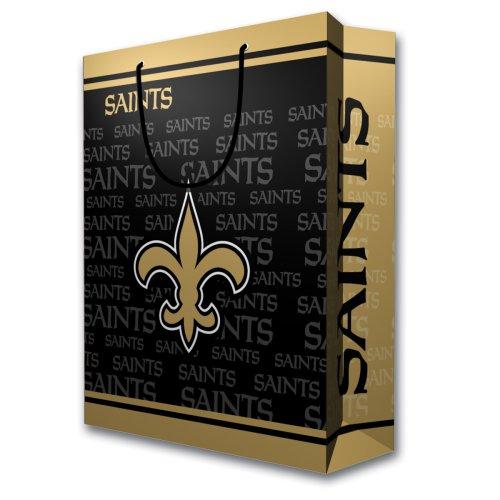 Pro Specialties Group NFL Geschenktasche - ideal für Sportfans, goldfarben/schwarz, Large