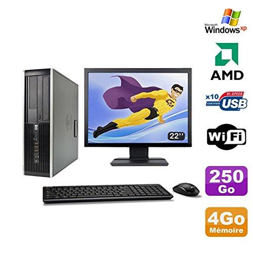 Hp Pack PC Compaq 6005 Profi SFF AMD 3GHz 4gb 250gb Gravierer Wifi Windows XP + 22