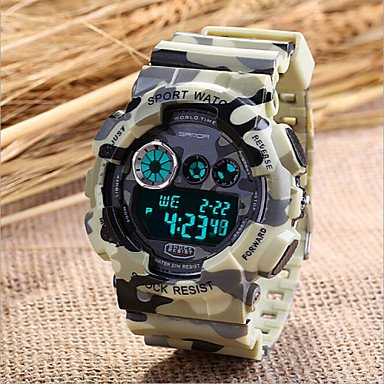 Beautiful Watches , Men's Military Sport Watch Japanese Quartz Digital LED/Calendar/Chronograph/Water Resistant/Alarm (Assorted Colors) ( Color : Gray , Size : One Size )