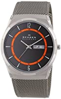 Reloj Skagen Aktiv SKW6007 de cuarzo para hombre, correa de acero inoxidable chapado color gris de Skagen